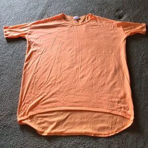 LuLaRoe Classic T Sz M Solid Orange Short Sleeve